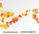 maple leaves vector  autumn... | Shutterstock .eps vector #1494748874
