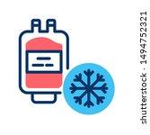 blood bank freezer color line...