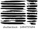 collection of vector grunge... | Shutterstock .eps vector #1494757694