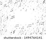 music notes symbols flying... | Shutterstock .eps vector #1494764141