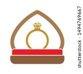 diamond engagement ring icon.... | Shutterstock .eps vector #1494769667