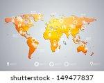 3d vector world map... | Shutterstock .eps vector #149477837