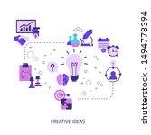 creative idea and innovation... | Shutterstock .eps vector #1494778394