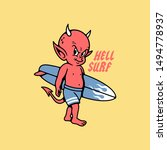 Hell Surfing Devil Baby With...