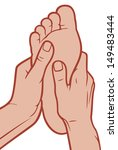foot massage  | Shutterstock . vector #149483444