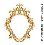 baroque luxury golden frame... | Shutterstock .eps vector #1494835031