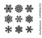 set of snow flakes icons.... | Shutterstock .eps vector #1494836231
