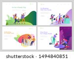 landing pages set with... | Shutterstock .eps vector #1494840851