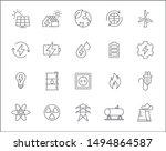 set of energy and renewable... | Shutterstock .eps vector #1494864587