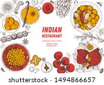 indian food illustration. hand... | Shutterstock .eps vector #1494866657