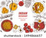indian food illustration. hand... | Shutterstock .eps vector #1494866657