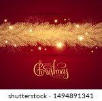 merry christmas  shining... | Shutterstock .eps vector #1494891341