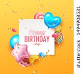happy birthday background with... | Shutterstock .eps vector #1494908531