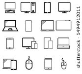 smart devices vector icons set. ... | Shutterstock .eps vector #1494912011