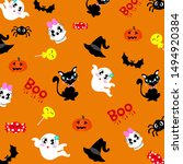 happy halloween background... | Shutterstock .eps vector #1494920384