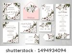 wedding invitation with branch  ... | Shutterstock .eps vector #1494934094