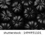 Halloween Black Pumpkin On The...