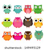 vector owls set | Shutterstock .eps vector #149495129