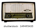 close up of antique radio on... | Shutterstock . vector #149495435