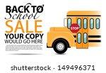 back to school bus. eps 10... | Shutterstock .eps vector #149496371