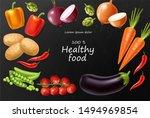 vegetables vector realistic.... | Shutterstock .eps vector #1494969854