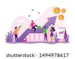 business strategy  financial... | Shutterstock .eps vector #1494978617