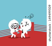 two colleagues fighting with... | Shutterstock .eps vector #149499509