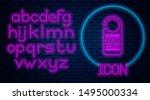 glowing neon please do not... | Shutterstock .eps vector #1495000334