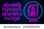 glowing neon eps file document. ... | Shutterstock .eps vector #1495000391