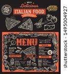 pizza menu template for... | Shutterstock .eps vector #1495004927