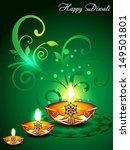 green diwali background with... | Shutterstock .eps vector #149501801