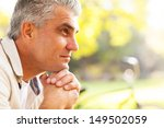 portrait of thoughtful middle... | Shutterstock . vector #149502059