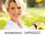 elegant mature woman sitting...   Shutterstock . vector #149502227