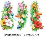 arrangement from tropical... | Shutterstock .eps vector #149503775