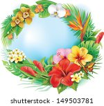round banner from tropical... | Shutterstock .eps vector #149503781