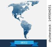 blue geometrical stylized... | Shutterstock .eps vector #149504051