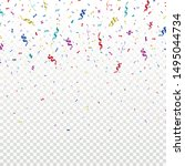 colorful bright confetti on... | Shutterstock .eps vector #1495044734