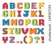 vector pixel art alphabet set... | Shutterstock .eps vector #149507255