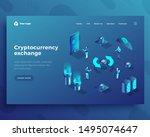 cryptocurrency exchange... | Shutterstock .eps vector #1495074647