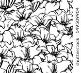floral seamless pattern with... | Shutterstock .eps vector #149509904