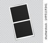 vector photo frame mockup...   Shutterstock .eps vector #1495119341