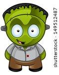 cute halloween monster  ... | Shutterstock .eps vector #149512487