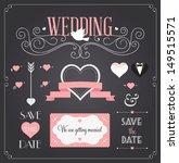 chalkboard style wedding design ... | Shutterstock .eps vector #149515571