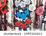 view of homemade decorations at ... | Shutterstock . vector #1495161611