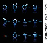 collection of astrological...   Shutterstock .eps vector #1495174991