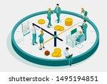 isometric effective time... | Shutterstock .eps vector #1495194851