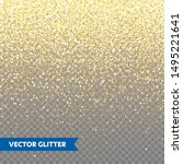 sparkling golden glitter on... | Shutterstock .eps vector #1495221641