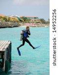 Scuba Diver Doing Perfect ...
