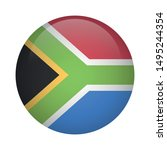 african round flag icon   south ... | Shutterstock .eps vector #1495244354