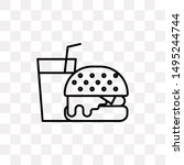 burger and drink icon isolated...